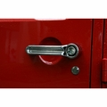 Door Handle Cover Kit, Chrome, 07-17 Jeep Wrangler by Rugged Ridge
