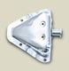 Door Latch Bracket (With Full Steel Doors), Stainless Steel, Left, 1981-1986 CJ7, 1981-1986 CJ8, 1987-1995 Wrangler