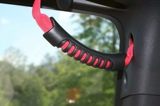 Rear Dual Grab Strap, Black, 87-06 Jeep Wrangler by Rugged Ridge