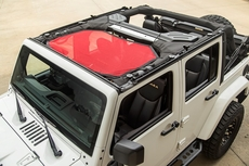 Eclipse Sun Shade, Front, Red, 07-17 Jeep Wrangler JK by Rugged Ridge