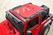 Eclipse Sun Shade, Red, 2-Dr, 07-15 Jeep Wrangler JK by Rugged Ridge