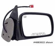 Electric Heated Mirror, Right Jeep Grand Cherokee (1996-1998); Right side; Black.
