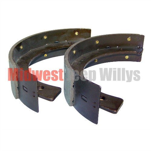 Emergency Brake Shoe Set For Transfer Case Mounted Brake Jeep Willys on 1951 Willys Jeep M38