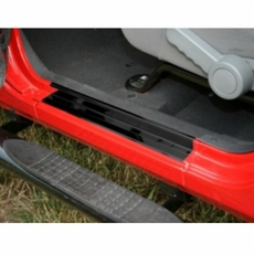 Door Entry Guard Set, Black, 07-17 Jeep Wrangler by Rugged Ridge
