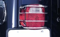 Tail Light Euro Guard, Stainless Steel, 76-06 Jeep CJ and Wrangler by Rugged Ridge