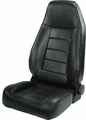 High-Back Front Seat, Reclinable, Black, 76-02 Jeep CJ and Wrangler by Rugged Ridge
