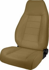 High-Back Front Seat, Reclinable, Nutmeg, 76-02 Jeep CJ and Wrangler by Rugged Ridge