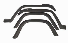 4-Piece Fender Flare Kit, 87-95 Jeep Wrangler by Rugged Ridge