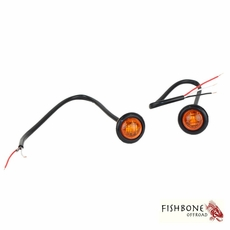 "Fishbone Offroad 3/4"" Amber LED Light Set for Universal Jeep Applications"