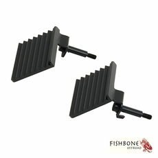 Fishbone Offroad Foot Peg Set, Fits 2007 to 2017 JK Wrangler, Rubicon and Unlimited