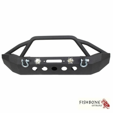 Fishbone Offroad Front Full Width Winch Bumper with LED's, Fits 2007 to 2017 JK Wrangler, Rubicon and Unlimited
