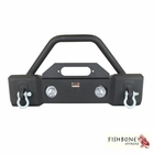 Fishbone Offroad Front Stubby Winch Bumper with Tube Guard, accepts OE fog lights Fits 2007 to 2017 JK Wrangler, Rubicon and Unlimited