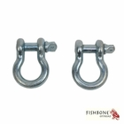 """Fishbone Offroad Zinc 3/4"""" D-Ring Set for Universal Jeep Applications"""