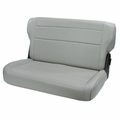Fold and Tumble Rear Seat, Gray, 76-95 Jeep CJ and Wrangler by Rugged Ridge