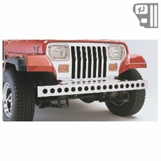 Stainless Steel Front Bumper, 87-95 Jeep Wrangler by Rugged Ridge