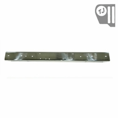 Stainless Steel Front Bumper Without Holes, 97-06 Jeep Wrangler by Rugged Ridge