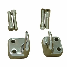 Front Tow Hooks, Chrome, 97-06 Jeep Wrangler by Rugged Ridge