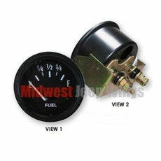Replacement Fuel Gauge, For 12V Systems, 1941-1956 Jeep MB, GPW, CJ2A, CJ3A, CJ3B