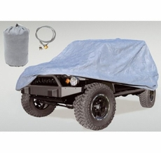 Full Car Cover Kit, 04-17 Jeep LJ and JK Wrangler Unlimited by Rugged Ridge