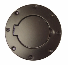 Non-Locking Gas Cap Door, Black, 97-06 Jeep Wrangler by Rugged Ridge