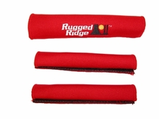 Neoprene Door and Grab Handle Covers, Red, 87-95 Jeep Wrangler by Rugged Ridge