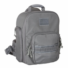 Gray Universal Fully Padded Top Grip Handle Sling Bag