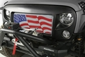 Grille Insert, American Flag, 07-17 Jeep Wrangler JK by Rugged Ridge