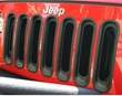 Grille Inserts, Black, 07-17 Jeep Wrangler by Rugged Ridge