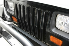 Grille Inserts, Black, 87-95 Jeep Wrangler by Rugged Ridge