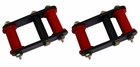 HD Front and Rear Leaf Spring Shackles, 55-75 Jeep CJ Models by Rugged Ridge