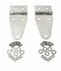 Hood Hinges, Stainless Steel, 76-95 Jeep CJ and Wrangler by Rugged Ridge