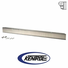 "Kentrol 54"" Front Bumper w/out holes Polished Stainless Steel fits 1987-1995 Jeep Wrangler YJ"