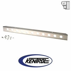 "Kentrol 54"" Front Bumper with holes (no license plate holes) Polished Stainless Steel fits 1987-1995 Jeep Wrangler YJ"