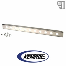 "Kentrol 54"" Front Bumper with holes Polished Stainless Steel fits 1987-1995 Jeep Wrangler YJ"
