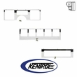 Kentrol Dash Overlay Set (3 pieces) Polished Stainless Steel fits 1987-1995 Jeep Wrangler YJ