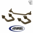 Kentrol Windshield Tie Down Kit Black Powder Coated Stainless fits 1987-1995 Jeep Wrangler YJ