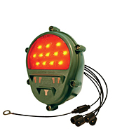 LED Type Rear Stop Lamp / Tail Lamp / Turn Signal Composite Lamp with Blackout Function, Red with Military Green Housing, 24 Volt, NSN# 6220-01-544-5793