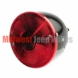 Left Side Rear Tail Light, fits 1945-1975 Jeep CJ2A, CJ3A, CJ5, CJ6, Plastic Housing