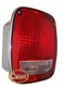 Left Side Tail Lamp Assembly, Chrome, fits 1976-80 Jeep CJ5, CJ7 & CJ8