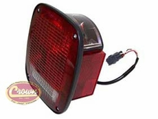 Left Side Tail Light, fits 1998-06 Jeep Wrangler TJ & Wrangler Unlimited