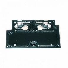 License Plate Bracket, Black, 87-95 Jeep Wrangler by Rugged Ridge
