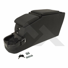 RT Off-Road Black Denim Locking Center Console, fits 1976-1995 Jeep CJ and Wrangler