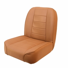 Low-Back Front Seat, Non-Recline, Tan, 55-86 Jeep CJ Models by Rugged Ridge