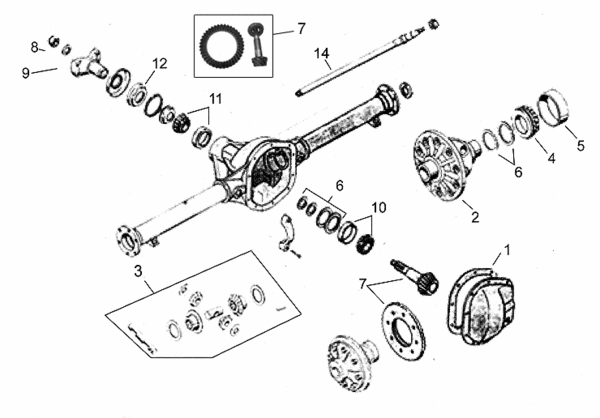 M38 Rearaxle Semifloat Parts on chevy front differential exploded view