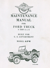 Maintenance Manual for Ford Model GPW 1/4 Ton 4X4 Truck
