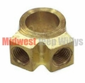 Master Cylinder Brass Outlet Fitting, fits 1941-1971 MB, Ford GPW, CJ2A, CJ3A, M38, M38A1, CJ5, CJ6