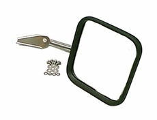 Mirror Head and Arm, Stainless Steel, Right, 55-86 Jeep CJ Models by Rugged Ridge