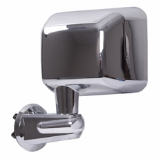Door Mirror, Chrome, Left Side, 07-17 Jeep Wrangler by Rugged Ridge