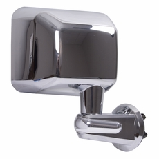 Door Mirror, Chrome, Right Side, 07-17 Jeep Wrangler by Rugged Ridge