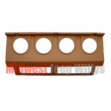 MTS Gauge Panel, 1987-1995 Jeep Wrangler YJ, TAN gauge cluster panel without gauges